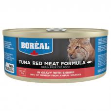 BOREAL с красным мясом тунца и креветками в соусе консервы для кошек 80г