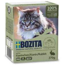 Влажный корм для кошек всех возрастов BOZITA RABBIT беззерновой c кроликом в желе 370г
