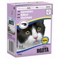BOZITA кусочки с креветками в соусе для кошек консервы 370г