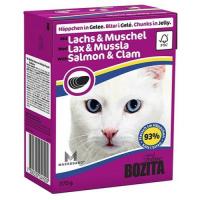 BOZITA кусочки c лососем и мидиями в желе для кошек консервы 370г