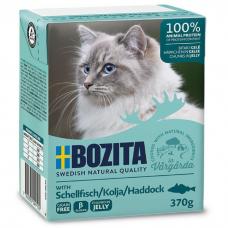 Влажный корм для кошек всех возрастов BOZITA HADDOCK беззерновой с морской рыбой в желе 370г