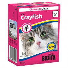 BOZITA кусочки с лангустом в желе для кошек консервы 370г