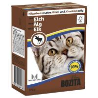 BOZITA кусочки c мясом лося в желе для кошек консервы 370г