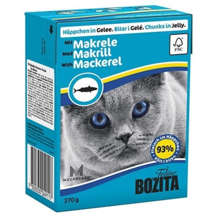 Фото - BOZITA кусочки со скумбрией в желе для кошек консервы 370г