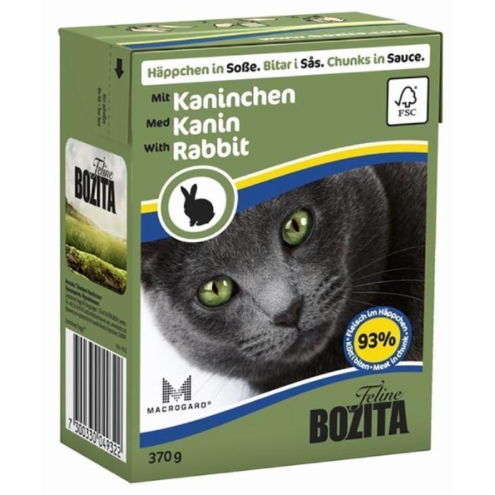 Фото - BOZITA кусочки c кроликом в соусе для кошек консервы 370г