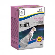 BOZITA кусочки с лососем в желе для для кожи и шерсти кошек консервы 190г