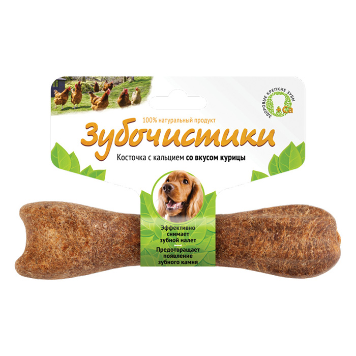 Фото - ЗУБОЧИСТИКИ с курицей лакомство для собак средних пород 95г
