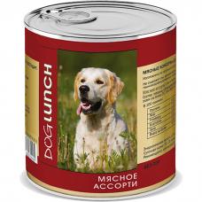 Консервы для взрослых собак DOG LUNCH МЯСНОЕ АССОРТИ 750г