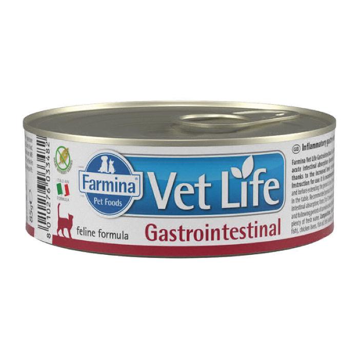 Фото - FARMINA WET LIFE GASTROINTESTINAL для лечения заболеваний ЖКТ у кошек консервы 80г