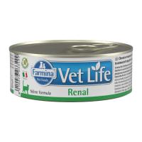 FARMINA VET LIFE RENAL для лечения заболеваний почек у кошек консервы 80г
