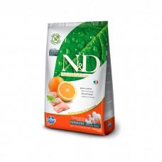 FARMINA N&D беззерновой с рыбой и апельсином для взрослых собак всех пород