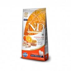 FARMINA N&D низкозерновой с треской и апельсином для взрослых собак крупных пород
