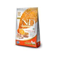 FARMINA N&D низкозерновой с треской и апельсином для взрослых собак мелких пород