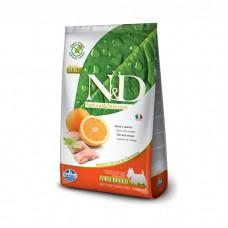 FARMINA N&D беззерновой с рыбой и апельсином для взрослых собак мелких пород