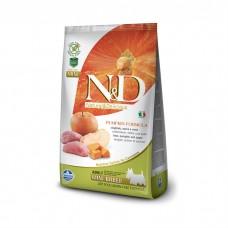 FARMINA N&D беззерновой с кабаном тыквой и яблоком для взрослых собак мелких пород