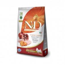 FARMINA N&D беззерновой с курицей тыквой и гранатом для взрослых собак мелких пород