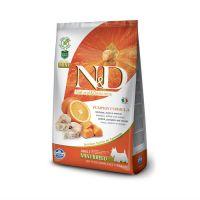 FARMINA N&D беззерновой с треской тыквой и апельсином для взрослых собак мелких пород