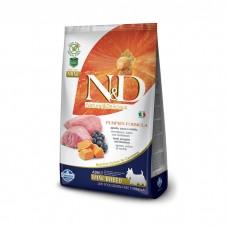 FARMINA N&D беззерновой с ягненком тыквой и черникой для взрослых собак мелких пород
