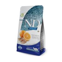 FARMINA N&D беззерновой с рыбой и апельсином для взрослых кошек