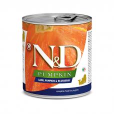 FARMINA N&D DOG PRIME беззерновые с ягненком, черникой и тыквой консервы для щенков 285г