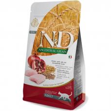 Сухой корм для взрослых кошек FARMINA ANCESTRAL GRAIN низкозерновой с курицей и гранатом 36/20