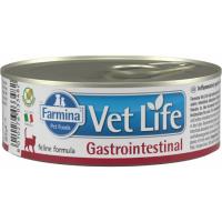 Лечебные консервы для кошек FARMINA VET LIFE GASTROINTESTINAL для лечения заболеваний ЖКТ 85г