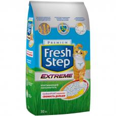 Наполнитель для туалета кошек FRESH STEP EXTREME впитывающий с активированным углем 30л