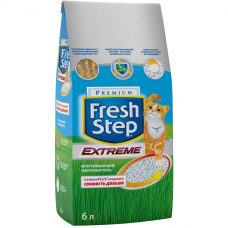 Наполнитель для туалета кошек FRESH STEP EXTREME впитывающий с активированным углем 6л