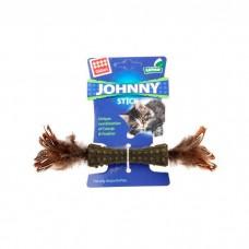 GIGWI JOHNNY STICK КОСТОЧКА ИЗ ПРЕССОВАННОЙ КОШАЧЬЕЙ МЯТЫ с перьями с двухсторон
