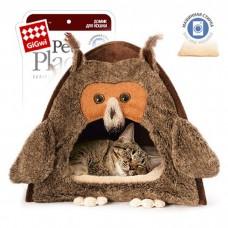 GIGWI СОВА домик для кошек и небольших собак