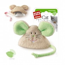 GIGWI МЫШКА С КОШАЧЬЕЙ МЯТОЙ текстильная игрушка для кошек