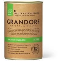 GRANDORF ЯГНЕНОК С ИНДЕЙКОЙ беззерновые консервы для взрослых собак 400г