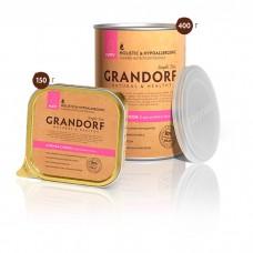 GRANDORF КУРИЦА С РИСОМ консервы для щенков