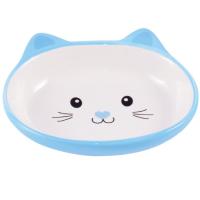 КЕРАМИКАРТ МОРДОЧКА КОШКИ миска керамическая для кошек 160 мл голубая