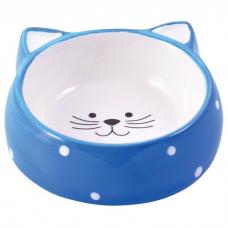 КЕРАМИКАРТ МОРДОЧКА КОШКИ ГОЛУБАЯ миска керамическая для кошек 250мл