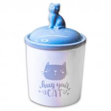 КЕРАМИКАРТ HUG YOUR CAT контейнер керамический с крышкой 1.65 л