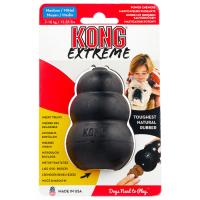 KONG EXTREME  M игрушка из натуральной резины супер прочная для собак средняя 8*6см