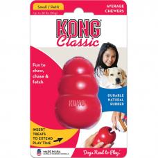 KONG CLASSIC S игрушка из натуральной резины для собак малая 7*4см