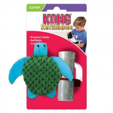 KONG REFILLABLES ЧЕРЕПАХА игрушка с заменяемой кошачьей мятой для кошек