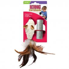 KONG REFILLABLES МЫШЬ-ПОЛЕВКА игрушка с заменяемой кошачьей мятой для кошек