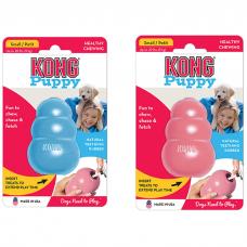 KONG CLASSIC PUPPY S игрушка из натуральной резины для щенков маленькая 7*4см розовая