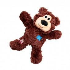 KONG WILDKNOTS МИШКА ПЛЮШ С КАНАТОМ ВНУТРИ игрушка для мелких и средних собак 18 см
