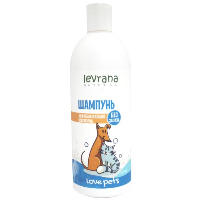 Фото - LEVRANA Шампунь для собак и кошек всех пород без аромата 500мл