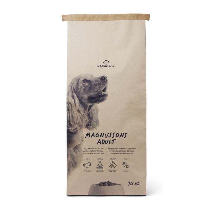 Фото - MAGNUSSONS ADULT со свежей говядиной и пшеницей для собак с нормальной активностью