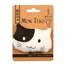 MON TERO КОШКА игрушка из натуральных материалов с мятой для кошек 9х7см