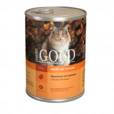 NERO GOLD CAT ФРИКАССЕ ИЗ КУРИЦЫ кусочки в желе для кошек