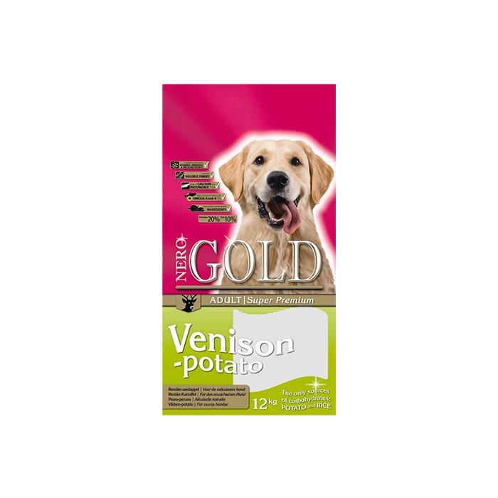 Фото - NERO GOLD VENISON&POTATO беззерновой с олениной и сладким картофелем для собак
