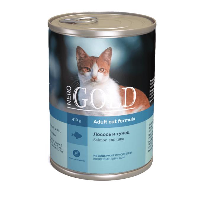 Фото - NERO GOLD CAT ЛОСОСЬ И ТУНЕЦ консервы для кошек