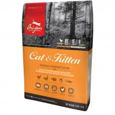 ORIJEN CAT&KITTEN 85.15 беззерновой с цыпленком и индейкой для кошек и котят всех пород