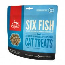 ORIJEN FD SIX FISH Сублимированное лакомство из 6 видов рыб для кошек всех пород и возрастов
